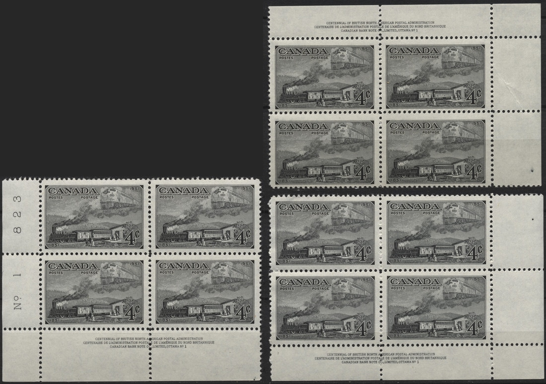 Canada - Plate Blocks 1936-1952 - Canadian Stamps and
