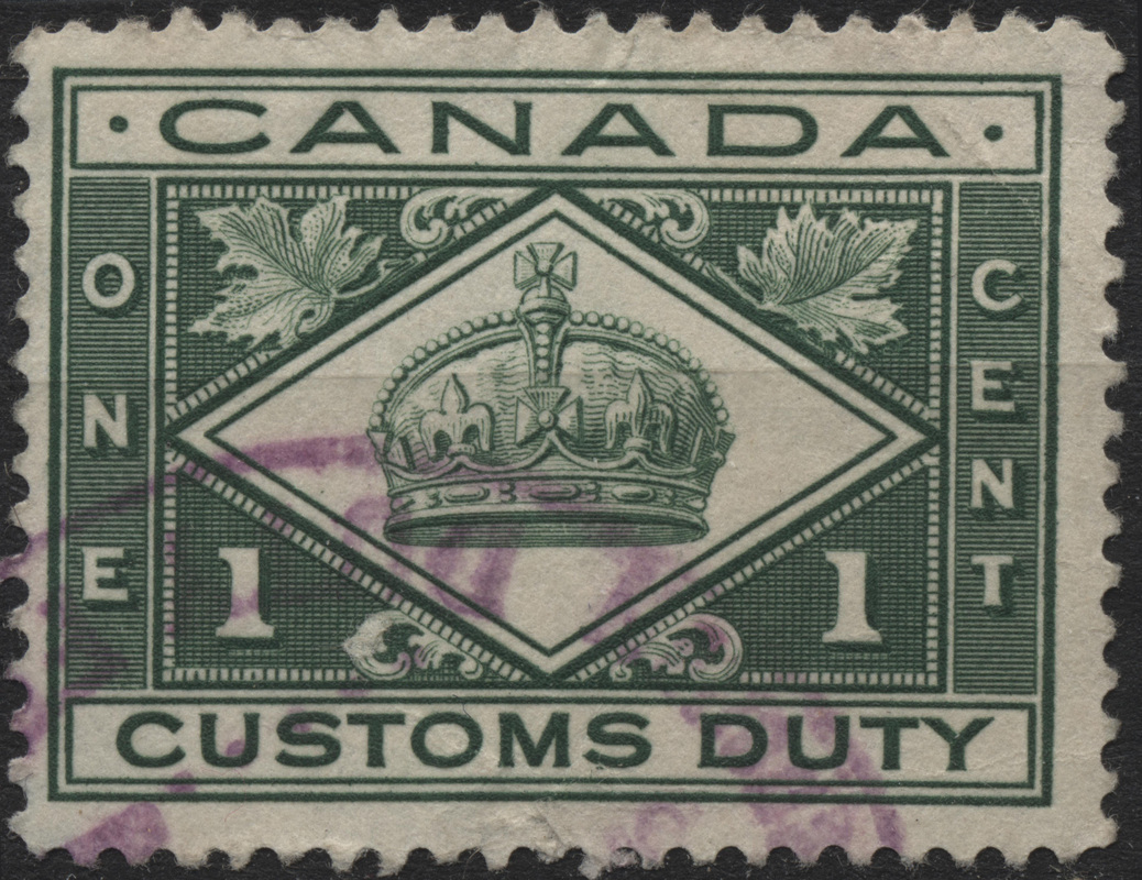 Canada Customs Duty Canadian Stamps And Collectables