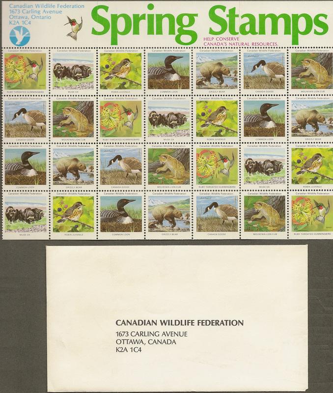 CANADIAN WILDLIFE FEDERATION FREE CALENDAR