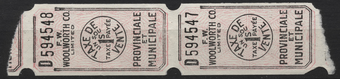 Canada - Tax Receipts - Canadian Stamps and collectables of