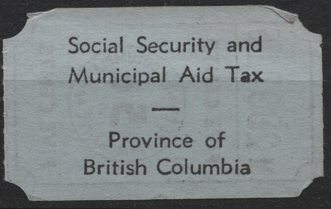 Canada - Tax Receipts - Canadian Stamps and collectables of Bwdavis